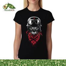Biker Cat Women T-shirt XS-3XL NewStreetwear Funny Print Clothing Hip-Tope Mans T-Shirt Tops Tees Fashion Summer Paried Tshirts