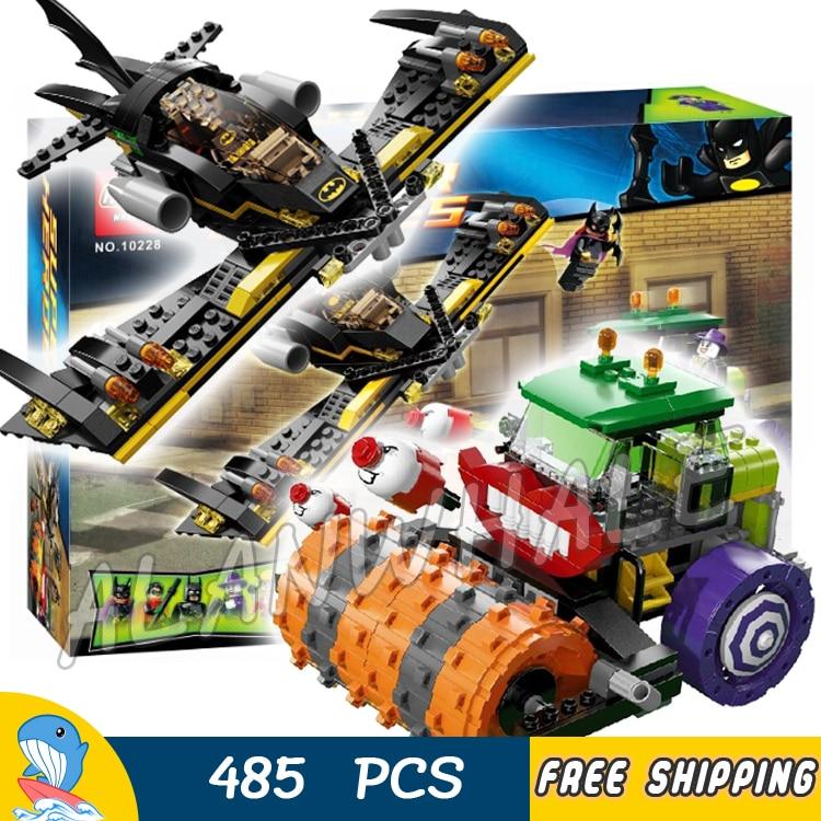 ФОТО 485pcs Batman Bela 10228 DC Comics The Joker Steam Roller Super Heroes DIY Building Blocks Brick Compatible With lego