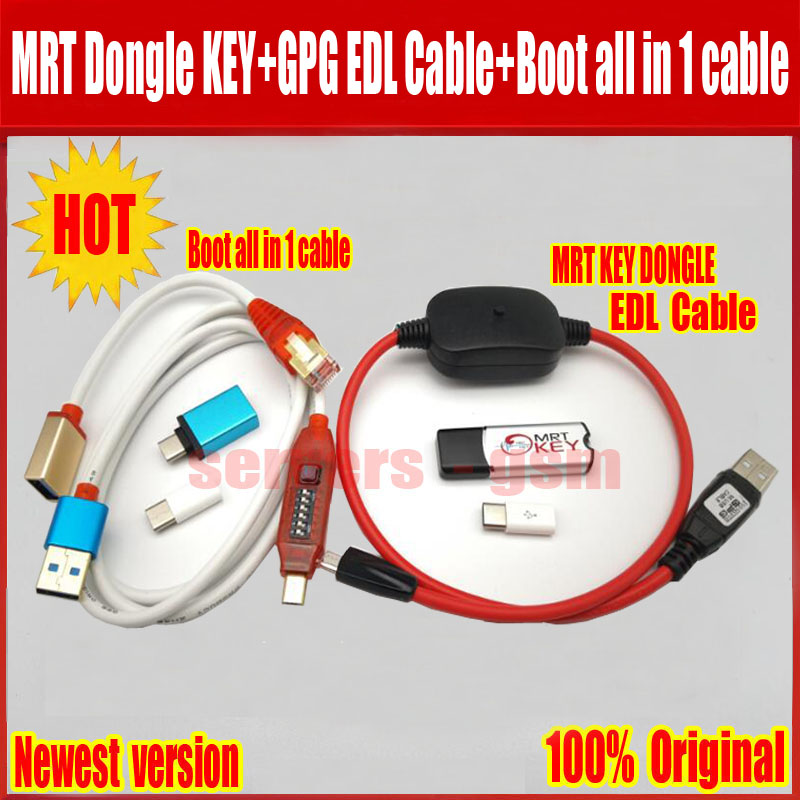 Newest MRT KEY DONGLE Repairing Tools GPG EDL CABLE Martview All Boot Cable EASY SWITCHING Micro