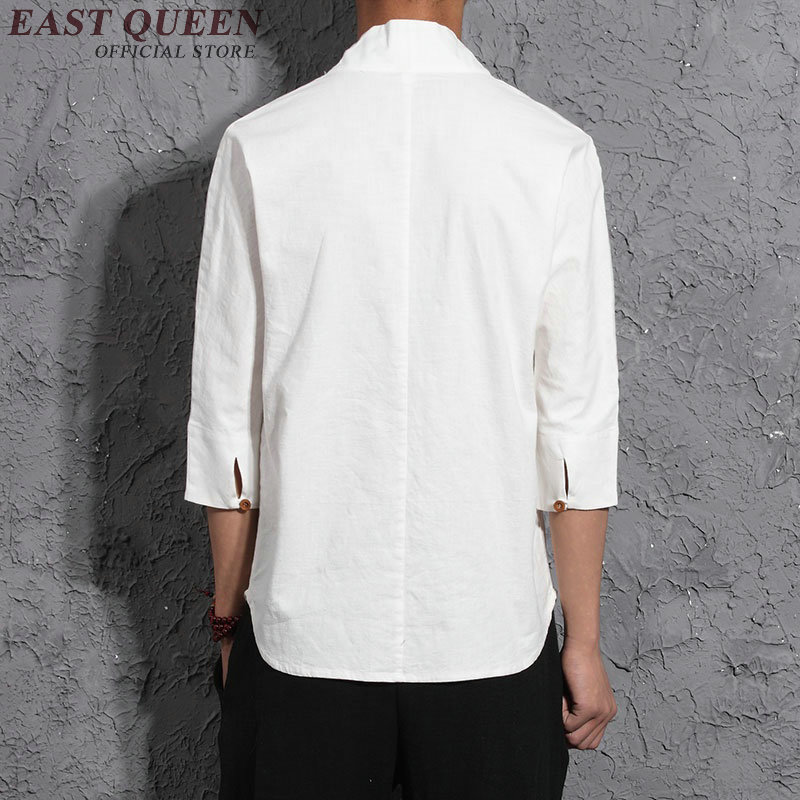 Long Sleeve Traditional Chinese Clothes Tang Suit Top Men Kung Fu Uniform Outfit Clothing for Men KK012