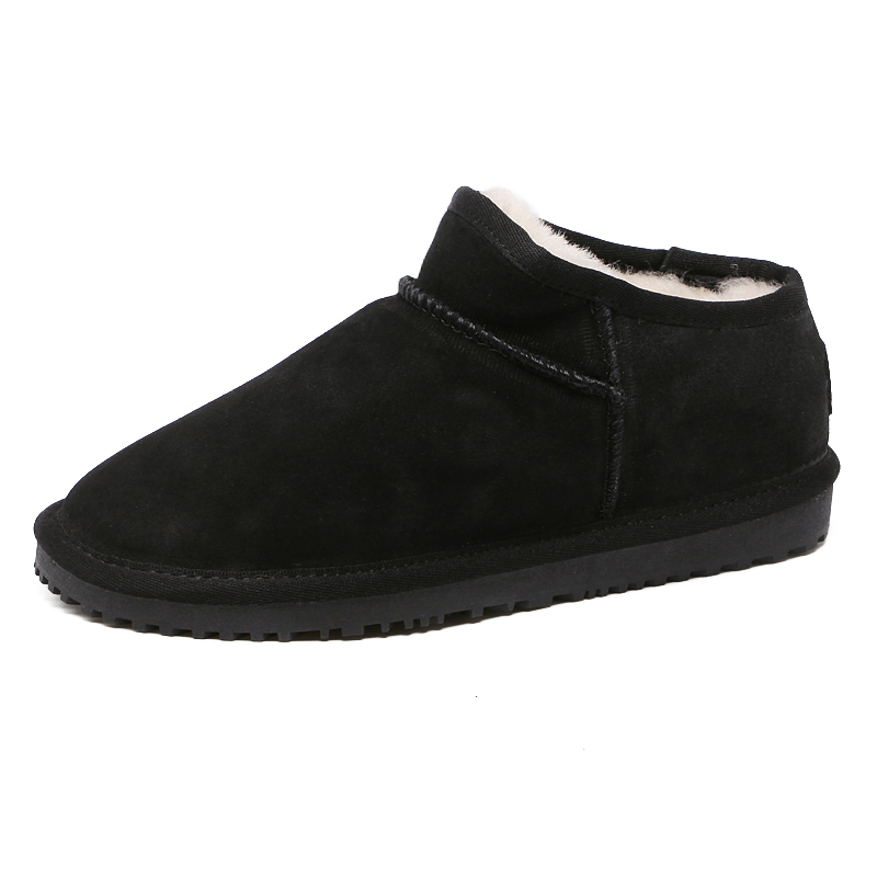 Winter Australia snow boots shoes woman and men causal flat warm sheepskin 100% wool genuine leather ankle boots high quality new australia winter shoes women s snow boots shoes woman sheepskin genuine leather flat ankle boots bowtie 100% wool size 35 44
