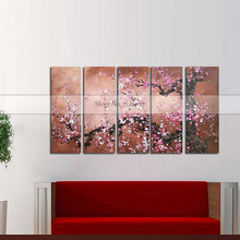 Handmade Canvas Paintings Abstract Landscape Oil Wall Art Golden Tree Pictures For Living Room Christmas Home Decor