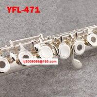 Высокое качество Подлинная флейта яс YFL 471 17 отверстие E ключ Откройте C Основной флейта Никель серебро instrumentos музыка Профессиональный flauta