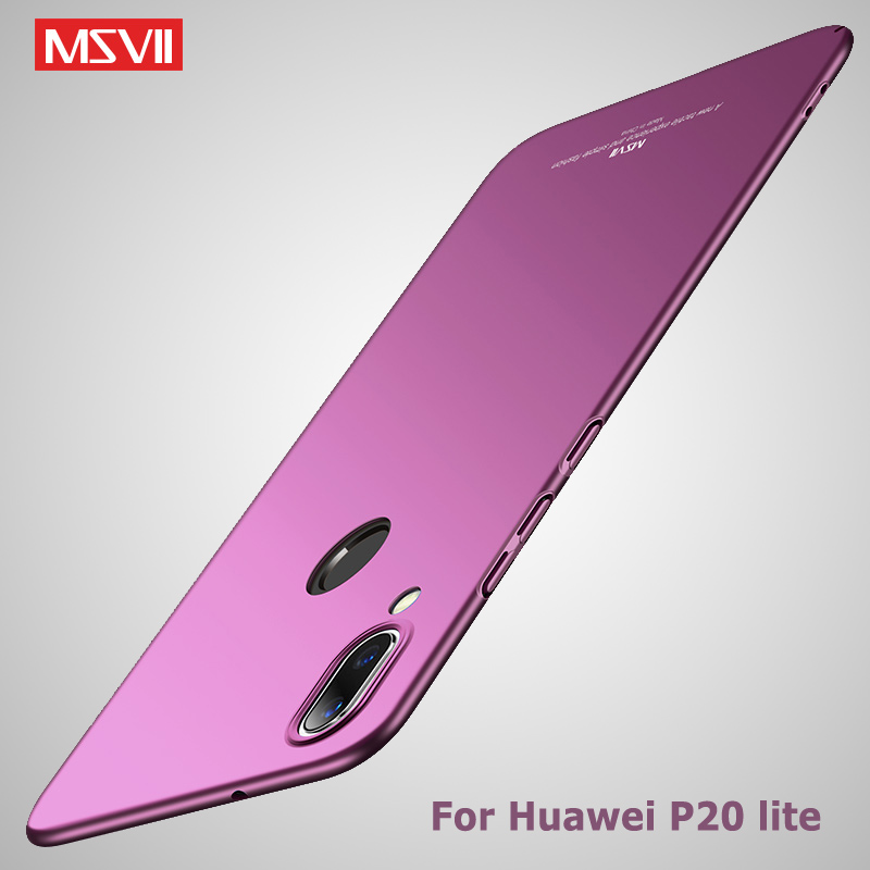 Huawei P20 Lite Case Cover Luxury Silm Hard PC Back Cover For HuaweiP20 P20Pro P20Lite Case Protector Msvii Brand Phone Coque in Fitted Cases from Cellphones Telecommunications