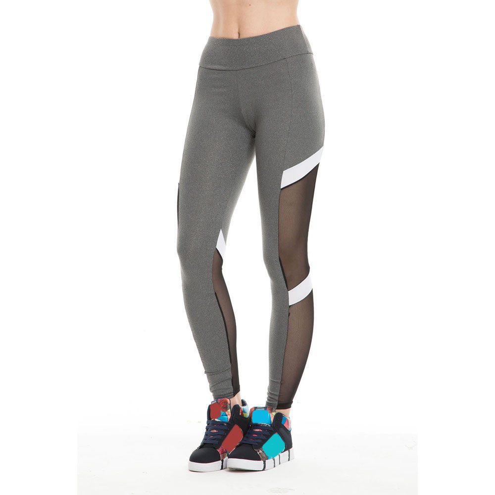 2019 Hot   Leggings   Fitness Women Sport   Legging   Sexy Mesh Patchwork High Waist Slim Push Up Roupa Academia