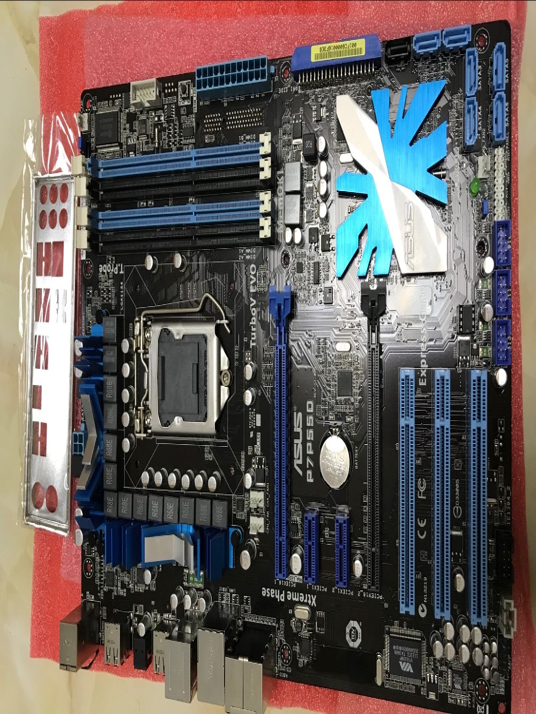 ASUS P7P55D original motherboard DDR3 LGA 1156 for I5 I7 CPU USB2.0 SATA II P55 Desktop motherborad Free shipping