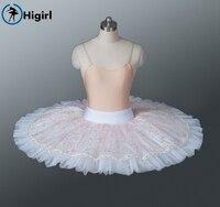 Free Shipping Pink Half Ballet Tutu Pancake Tutu For Gilrs Ballerina Tutu Dresses Pink Ballet Costumes