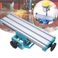 Mini Präzision Fräsmaschine Arbeitstisch Multifunktions Bohrer Schraubstock Leuchte Arbeitstisch X Y achse einstellung Koordinieren tisch-in Fräsmaschine aus Werkzeug bei