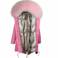 New arrival winter warm real rabbit fur jacket long fur parka,warm winter real fur liner long style coat with real fur collar