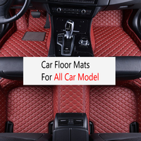 Custom car floor mats for All Models Leather Rugs Dash Mats Car Interior Accessories styling car carpets LHD