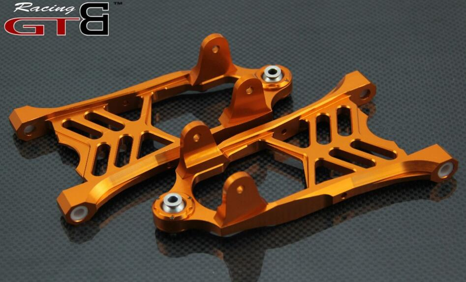 CNC METAL Front lower arm bracket For 1/5 HPI rovan km GTB Baja 5B 5T 5SC rc car parts plastic chrome 2x front and 2x rear wheel hub set for 1 5 hpi baja 5b 5t 5sc rc car parts