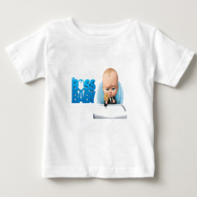 2-15Years T-shirts 2019 The Boss Baby print T Shirts for Teenagers Kids t-shirts Short Sleeve Boy/girl Summer Lovely tees  NN