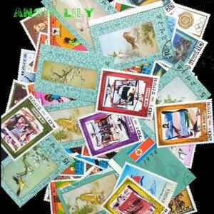 Image 2 - Corea del nord 250 pz/lotto Tutti Diversi Nessuna Ripetizione Centrale e Grande Formato Francobollo Con Timbro Postale estampillas de correo