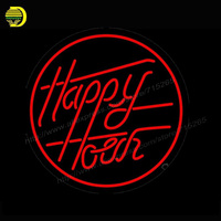 Neon Sign Happy Hour Blue Moon Double Stroke Neon Light Sign For Bar Pub Glass Tube