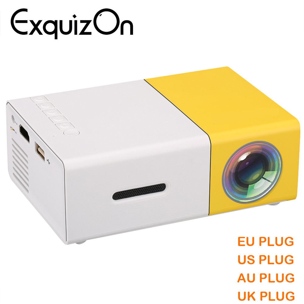 Newest Mini YG300 LCD Projector 400 - 600 Lumens 320 x 240 Pixels 3.5mm Audio/HDMI/USB/SD Inputs Media Proyector/Beamer