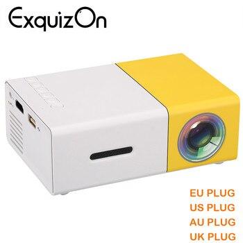 Newest Mini YG300 LCD Projector 400 - 600 Lumens 320 x 240 Pixels 3.5mm Audio/HDMI/USB/SD Inputs Media Proyector/Beamer