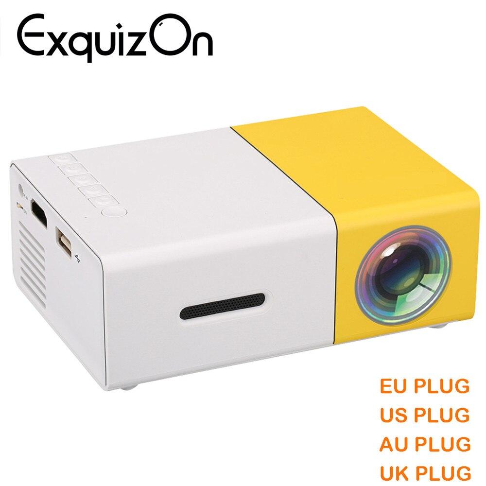 новые мини yg300 жк-дисплей проектор 400-600 люмен 320х240 пикселей 3.5 мм аудио/разъем HDMI/USB /памяти SD входы мультимедиа proyector/проектор