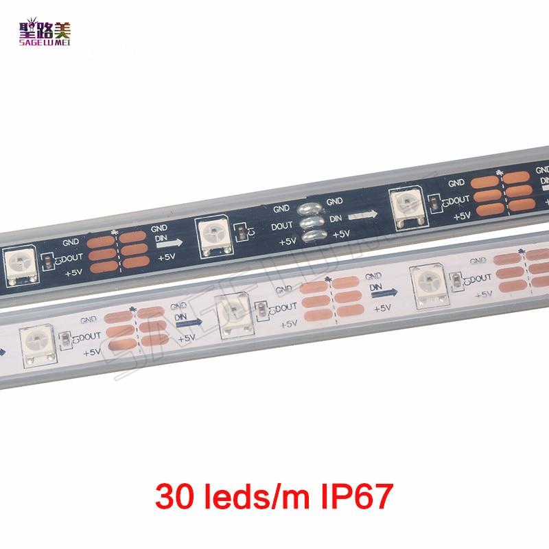 1m 5m DC5V WS2812B WS2812 Led Pixel Strip Individually Addressable Smart RGB Led Strip Light Tape Black White PCB IP30/65/67