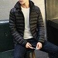 New Casual Waterproof Winterjas Mannen Slim Cotton-padded Mens-parka-jacket