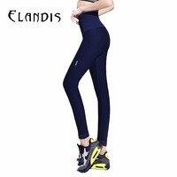 FLANDIS Yoga Pants High Waist Leggings Running Sport Pants Women Gym Jogging Quick Dry Wide Waist
