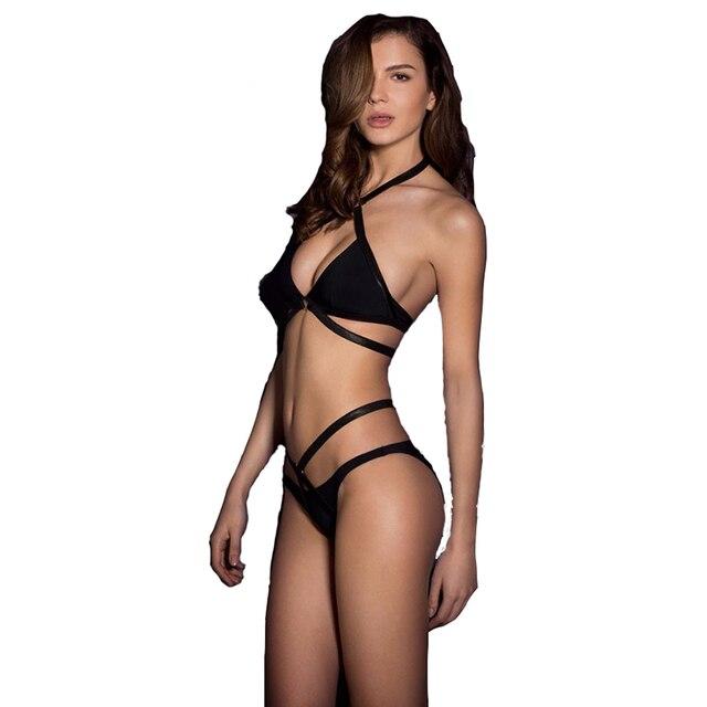 Bikini Badpak Ineen.Een Stukken Badpakken Solid Strap Bikini Badpak Sexy Dame Geen Staal