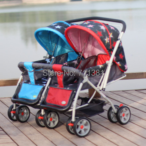 7be7baa17 7 36 Months Kids Using Two ways Twin Baby Trolley On Sale 5 Colors ...