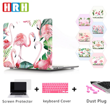 HRH New Fashion Flamingo Waterproof PC Laptop Body Shell Hard PC Case Sleeve for Macbook Pro 13