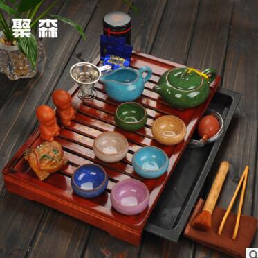 Ensemble de thé Kung Fu combinaison spéciale de plateau de thé en céramique de thé de glace