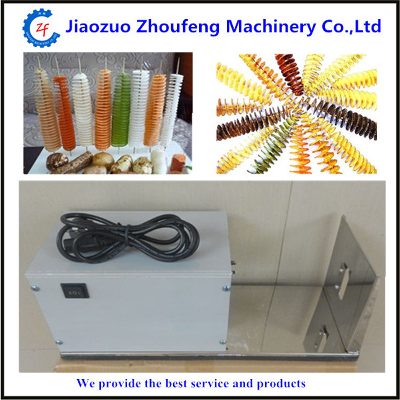 Electric chinese yam chip machine twister tornado spiral potato hot dog cutter cutting machine