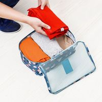 Organizer Household Box Portable Waterproof Clothes Underwear Bra Packing Makeup Cosmetic Cloth Storage Box 6pcs/set