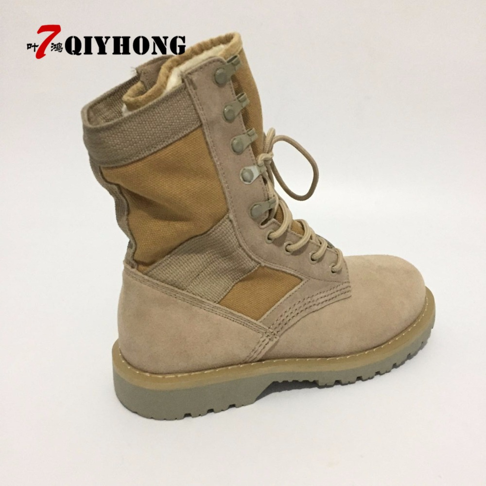Woman Zapatos Hombre Beige Frosted Leather Feminino Shoes Woman Military Genuine Leather Outdoor Snow Boots Warm Winter Boots in Ankle Boots from Shoes
