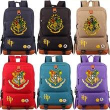 купить Slytherin Gryffindor Boy Girl School bag Women Bagpack Teenagers Schoolbags Canvas Men Student Backpack Packsack дешево