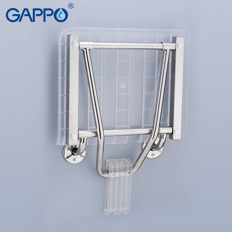 GAPPO wall mounted chairs Bench Shower folding seat folding Waiting Bath bathroom stool Solid Seat Toilet