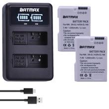 Batterie 2x EN-EL14 EN EL14 EL14a avec LED et double chargeur USB, pour Nikon D3100 D3200 D3300 D5100 D5200 D5300 P7000 P7700 P7800