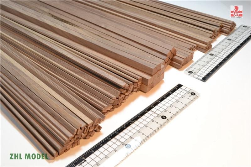 ZHL Black Walnut Wood Strips 25 Pieces Model Ship