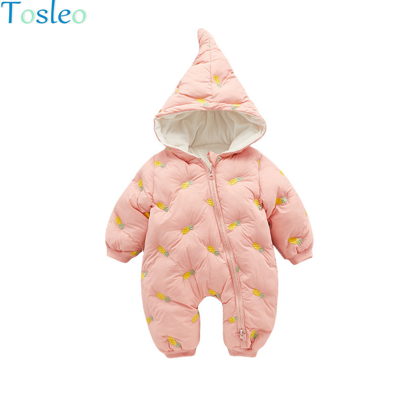 Baby Clothing Winter Fruit Print Funny Rompers Long Sleeve Cotton Paded Fashion Baby Costumes Toddler New Born Outfits 0 2Y Girl