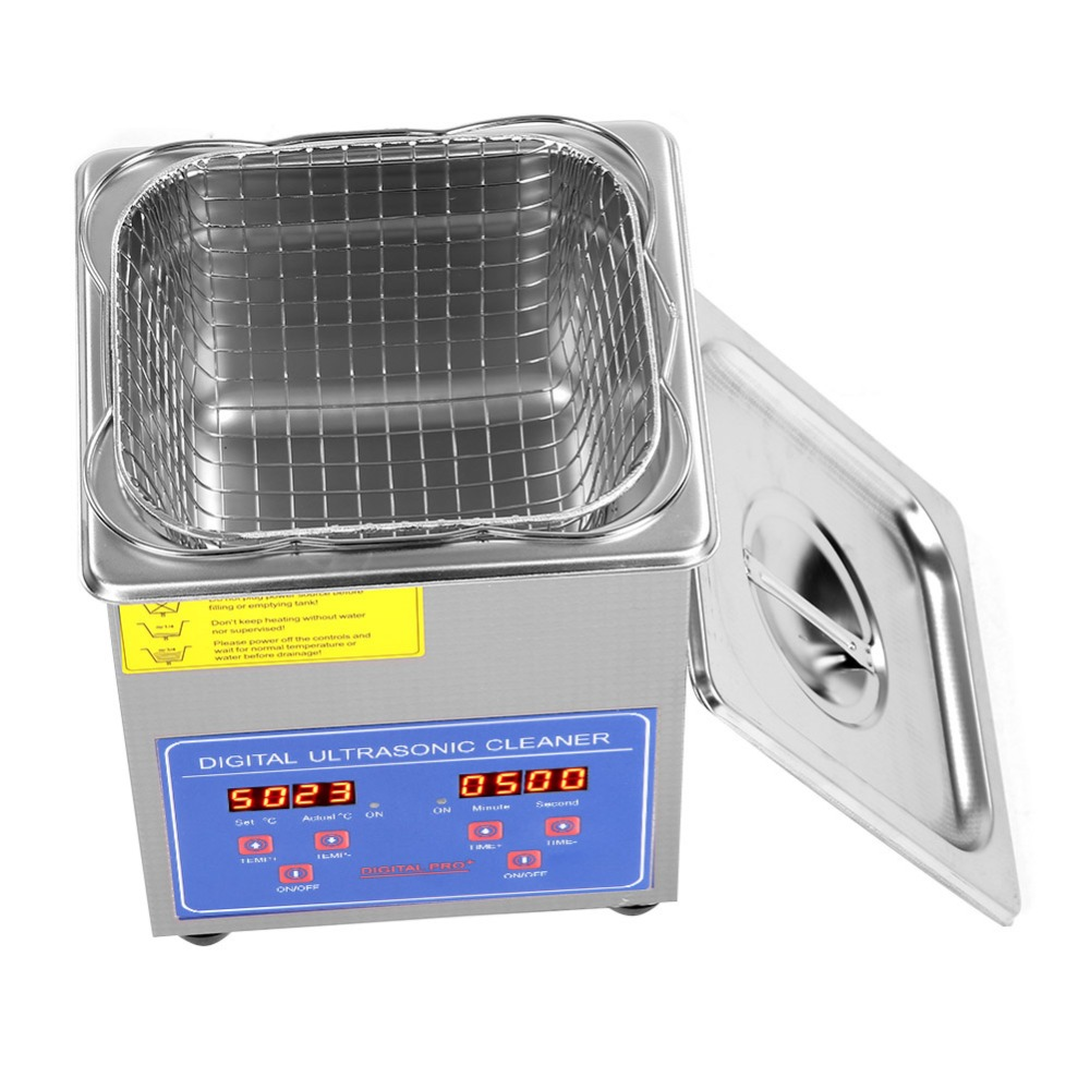 2L Stainless Steel Digital Ultrasonic Cleaner Ultra Sonic Bath Heater Timer Ultrasonic Cleaner Jewelry Glass Watch Cleaning Tool