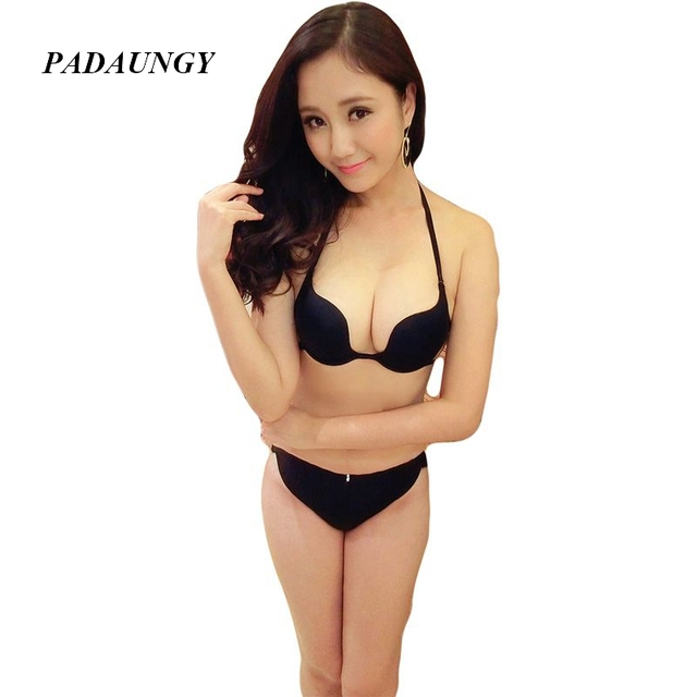 67dd2705f30e3 PADAUNGY Underwear Women Push Up Bra Deep W Smooth Bralette Girls  Brassieres AB Cup Backcross Bralettes Sexy Lingerie Plus Size
