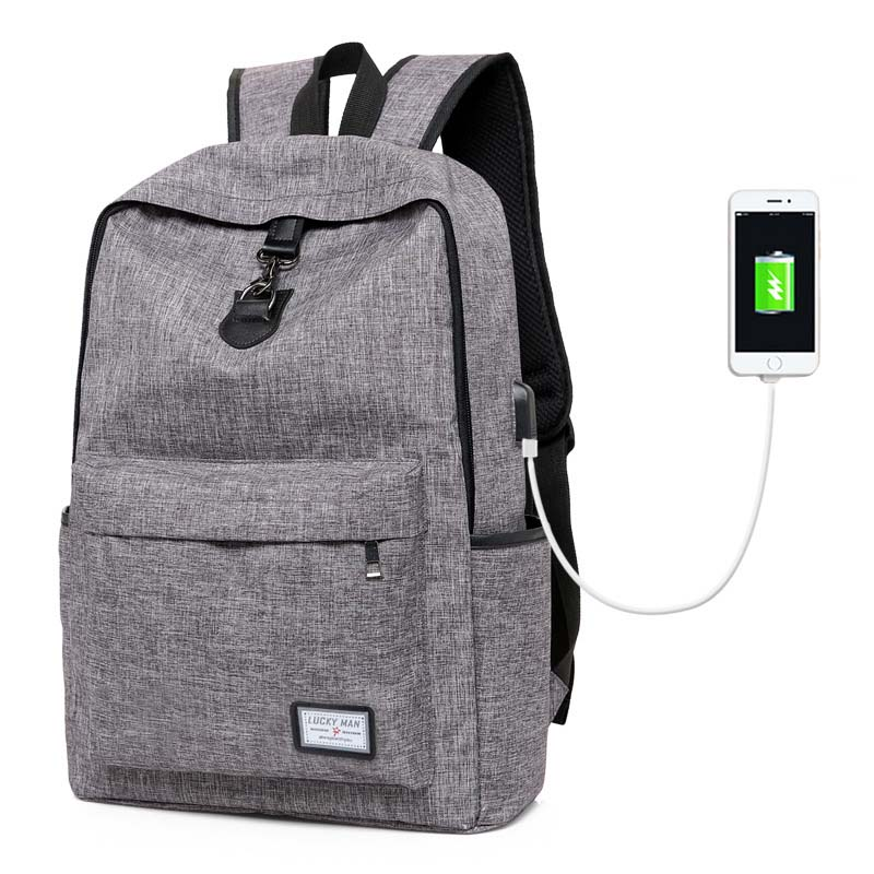 Backpack Men Backpack Men's School Bag Men Laptop Backpacks USB Charging Backpacks Notebook Male Travel Bags Casual For Teenager large 14 15 inch notebook backpack men s travel backpack waterproof nylon school bags for teenagers casual shoulder male bag