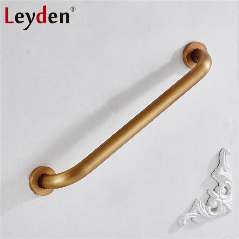 Permalink to Leyden New Antique Brass Grab Bar Safety Handle Wall Mounted Copper Handrail Safety Bar for Bathroom Handle Bathroom Accessories