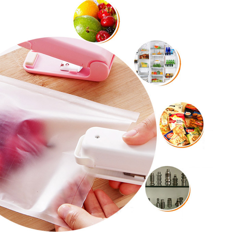 Portable Mini Heat Sealing Machine Laminating Machine Premiun Hand Pressure Mini Gadgets With Battery Bag Clips Handheld