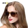 Óculos de sol dos homens óculos de sol de madeira de bambu madeira óculos de sol das mulheres designer de marca polaroid original oculos de sol masculino6016