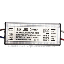 5pcs/lot 6-12x3W DC18-40V 900mA 220V LED Driver 18w 30w 36w Power Supply IP67 Waterproof Constant Current For FloodLight