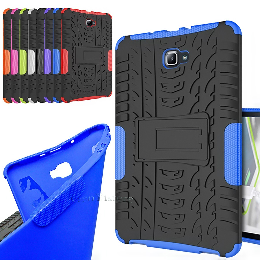 Case Tablet-Stand T585 Samsung SM-T580 Cover Shockproof Galaxy For Tab-A Newest Hybrid