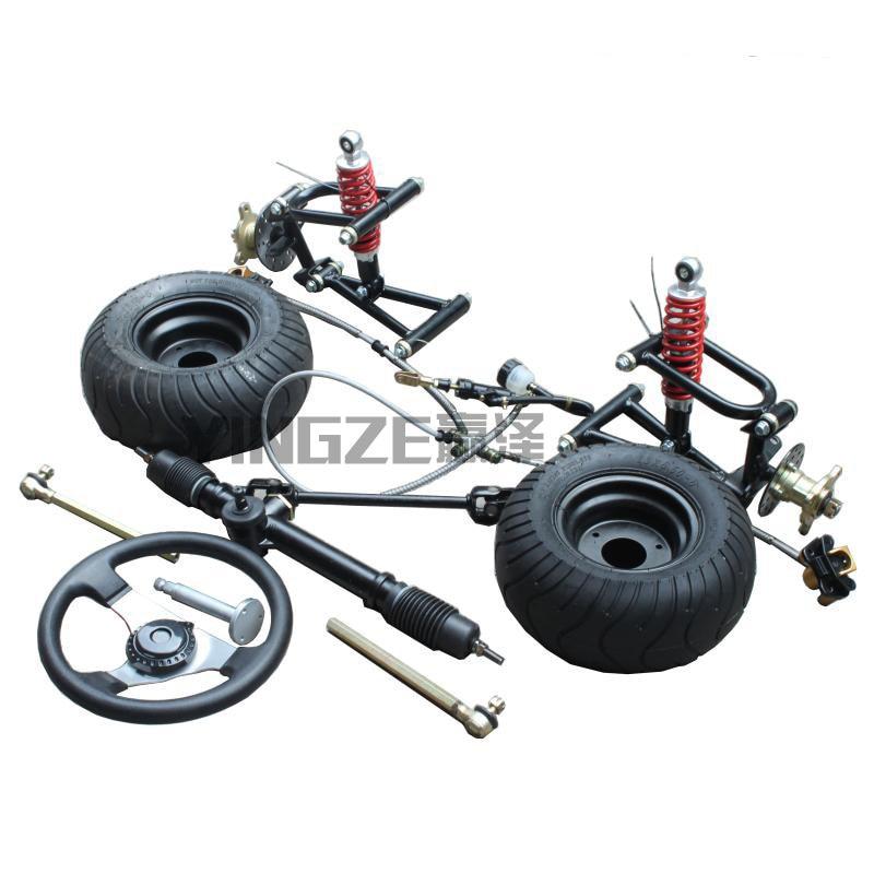 US $150 0 |GO KART KARTING ATV UTV Front Steering Gear Rack Pinion  Swingarms Tie Rod Steering Wheel Brake Pump With 6