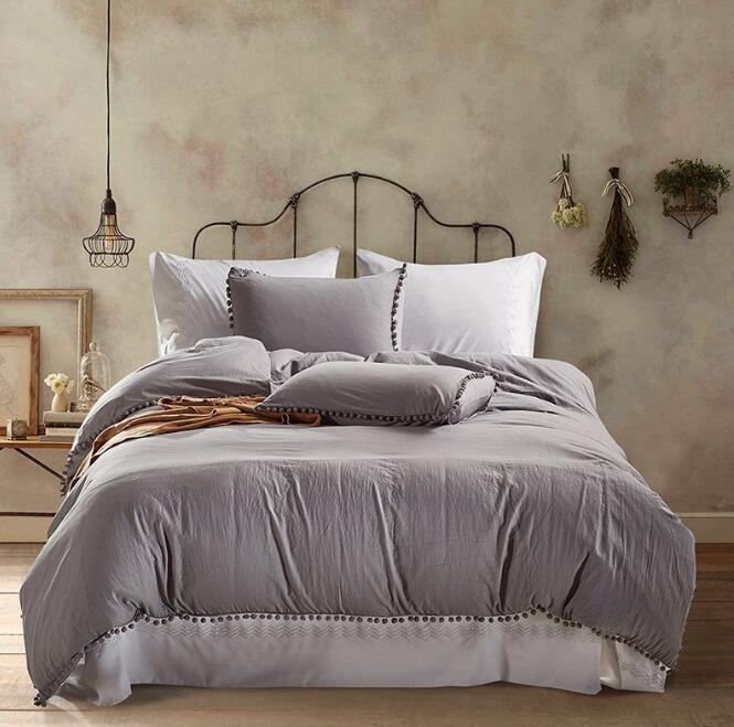 European American Solid Color Washed Ball Bedding set 3pcs European American Solid Color Washed Ball Bedding set 3pcs
