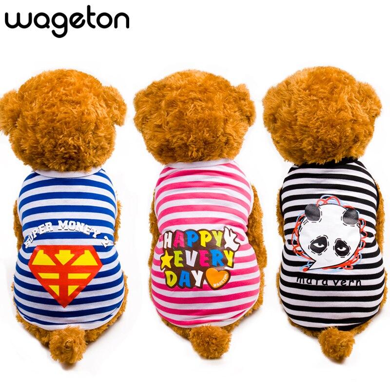 جودة عالية wageton الصيف كلب قميص الملابس - منتجات الحيوانات الأليفة
