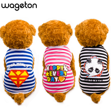 High Quality WAGETON Summer Pet Dog Shirt Clothes Cute Lovely Sweetheart Vest Shirts Printed T Shirt Clothing For Puppy Cats(China)
