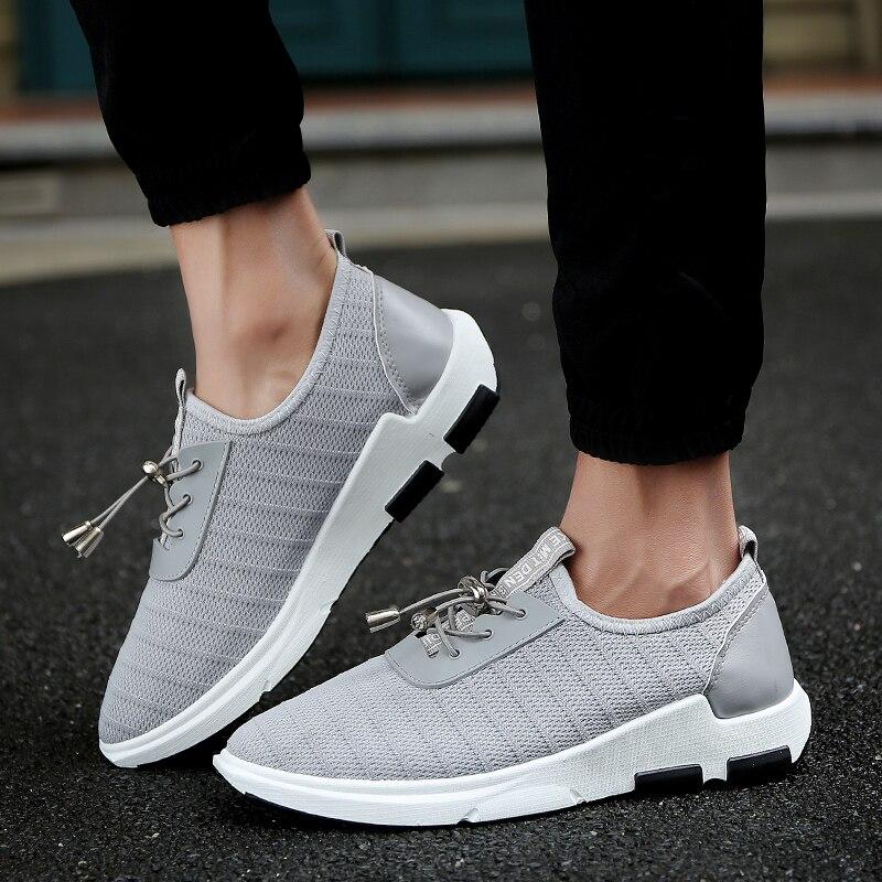 Chaussures Noir Glissement 2019 gray Air De Mesh Deportivas Formateurs Blue Sneakers Hommes Aérées Sur Très Hombre Décontractées Léger Course black 85PrqngW5