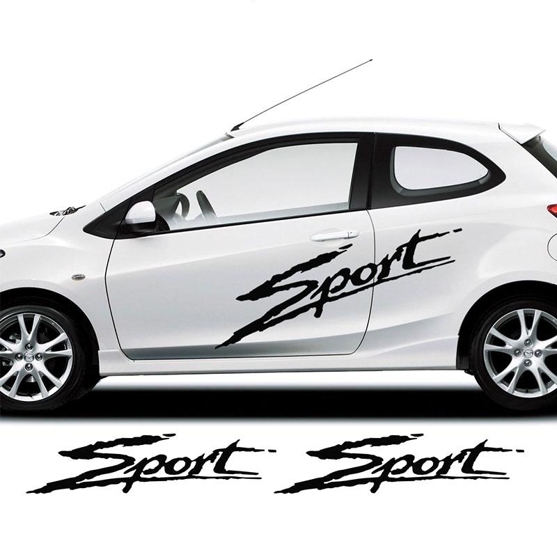 2 Stuks Auto Stickers Voor Mazda 2 Sport Side Racing Strepen Decal Graphics/tuning Auto Auto Stickers Een Unieke Nationale Stijl Hebben